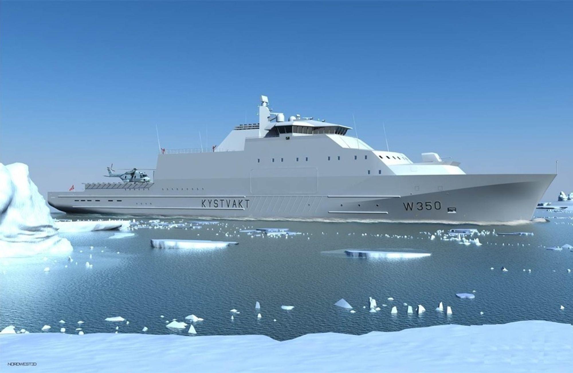 KV Arctic i arktiske omgivelser.