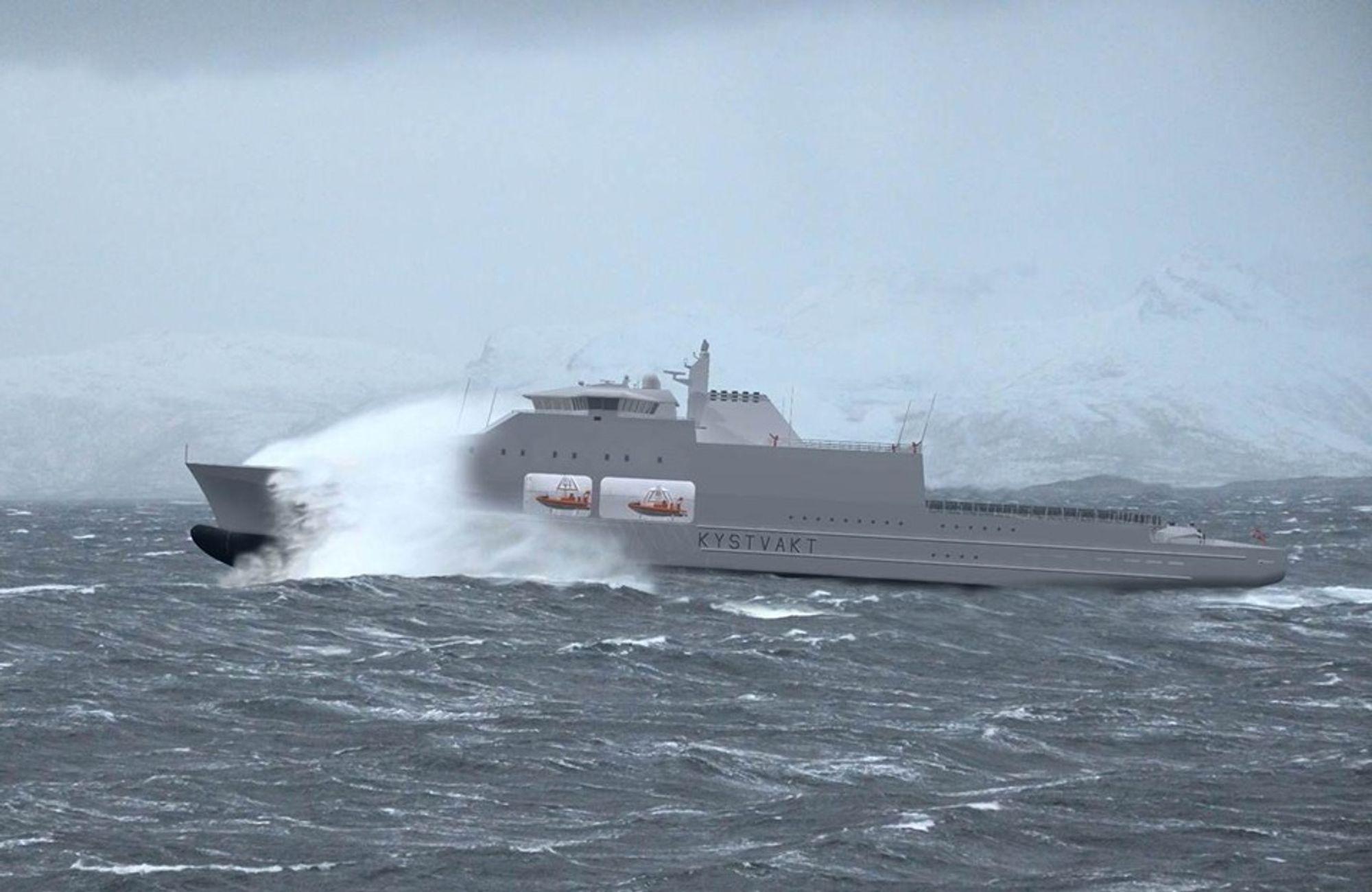 Klima- og miljøminister Vidar Helgesen reagerer på at de nye kystvaktskipene skal gå på diesel. Han vil ta saken opp med forsvarsministeren.