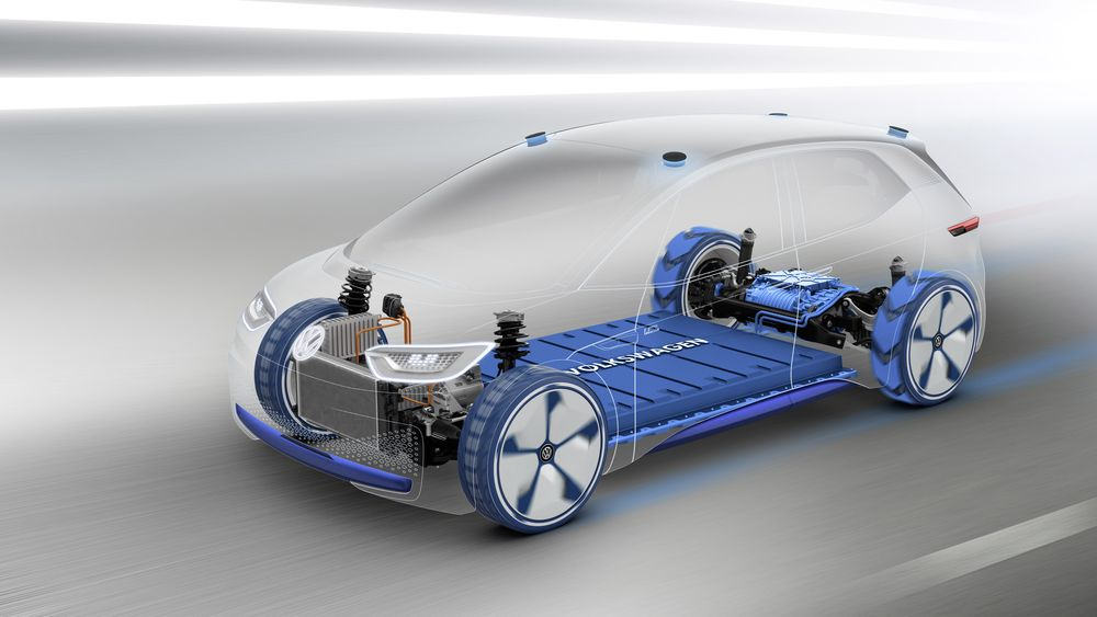 Volkswagen ID er den første elbilen på Volkswagens MEB-plattform.