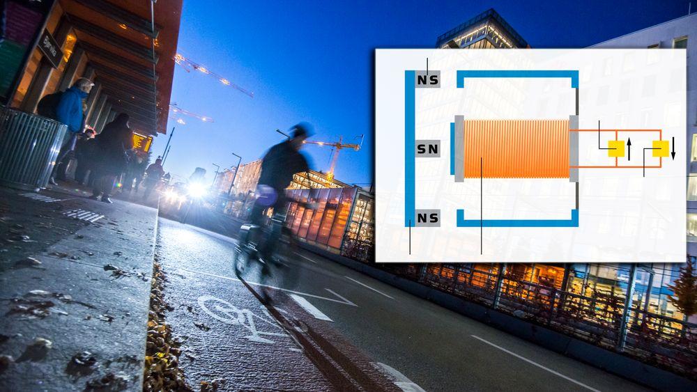 Hver tredje syklist sykler uten lys. Norske Jochums magnetlys bruker ikke batteri og skal ikke tas av sykkelen. Dermed eliminerer den en del mulige årsaker til at man ender opp med å  sykle uten lys.