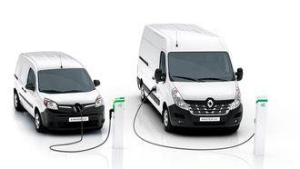 Renault Kangoo og Master i elbilutgaver.