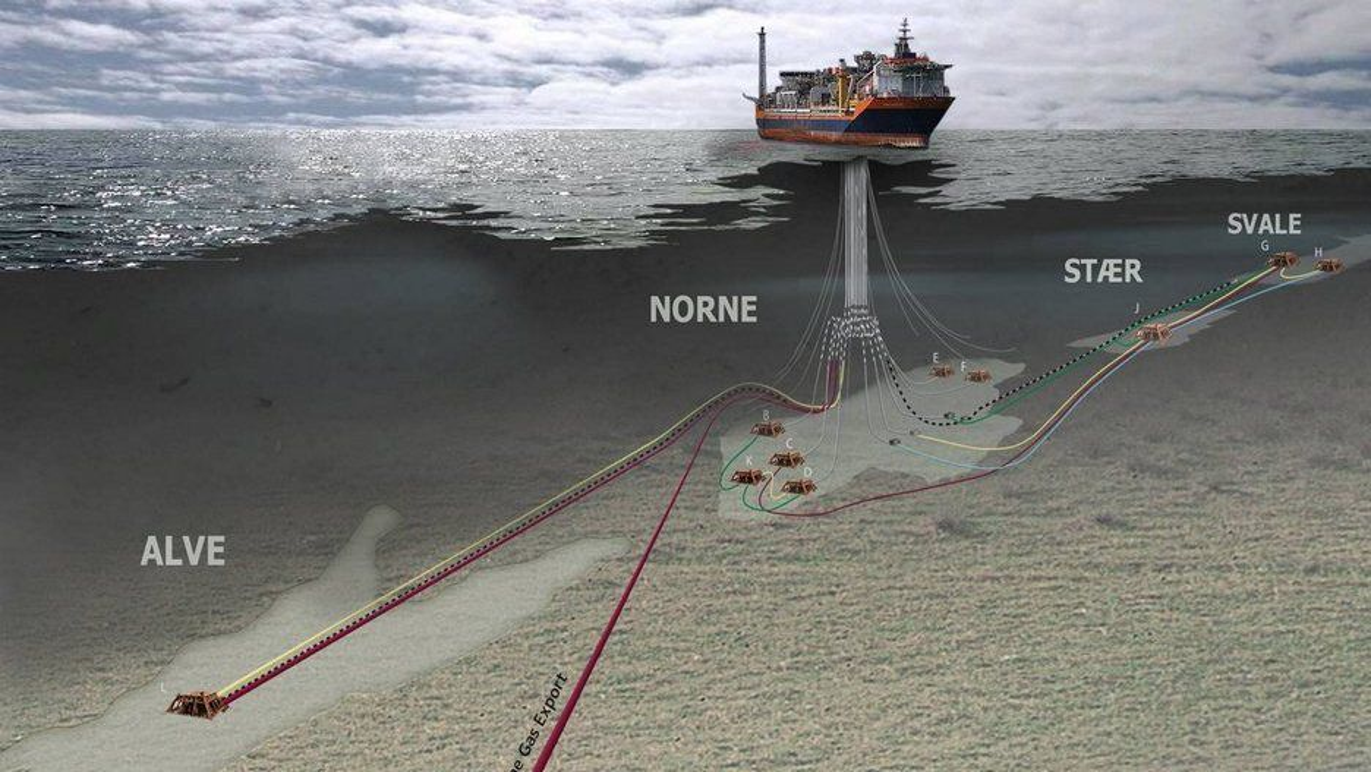 Cape Vulture-funnet som i dag ble bekreftet av Statoil og Oljedirektoratet ligger like i nærheten av Norne-feltet (bildet).