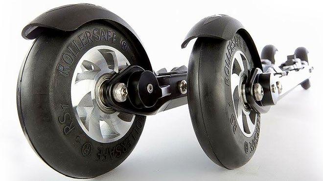 RollerSafe har lansert verdens første rulleski med hydrauliske skivebremser