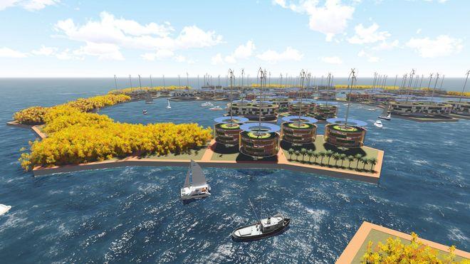 Her vil de bygge verdens første flytende by
