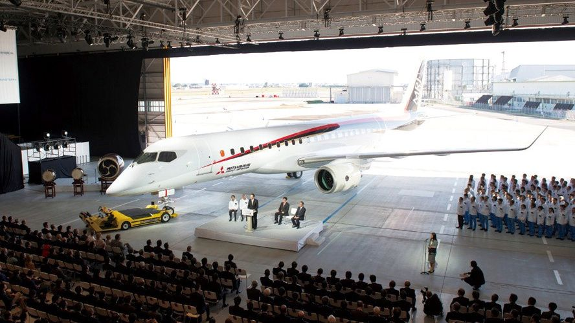 Utrullingsseremonien for Mitsubishi MRJ fant sted 18. oktober 2014.