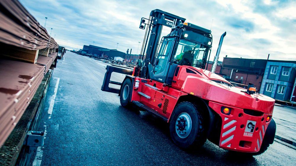 Svenske Kalmar jobber med å utvikle en truck drevet av brenselscelle.