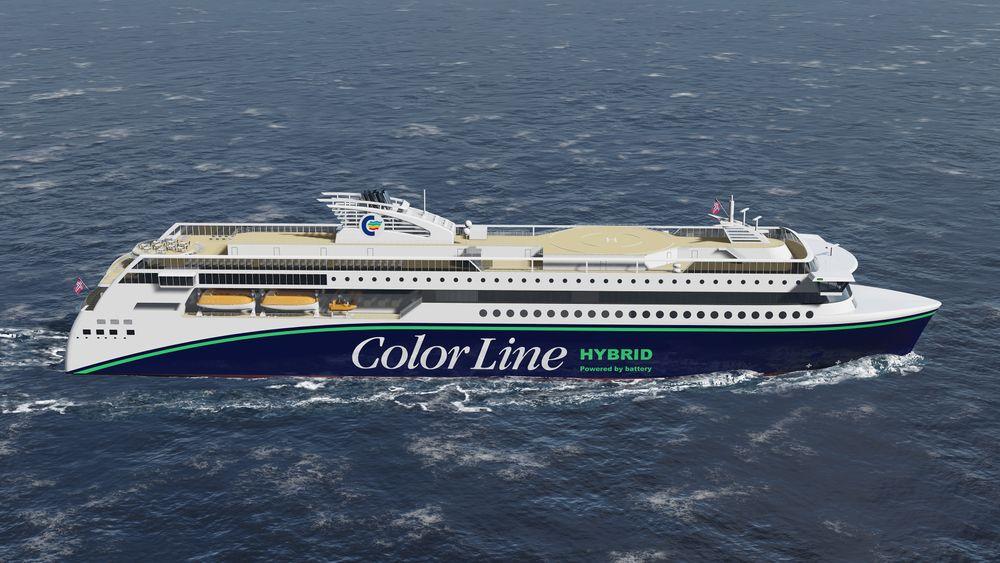 Color Hybrid får plas til 2000 passasjerer og 500 biler mellom Sandefjord og Strömstad i Sverige.