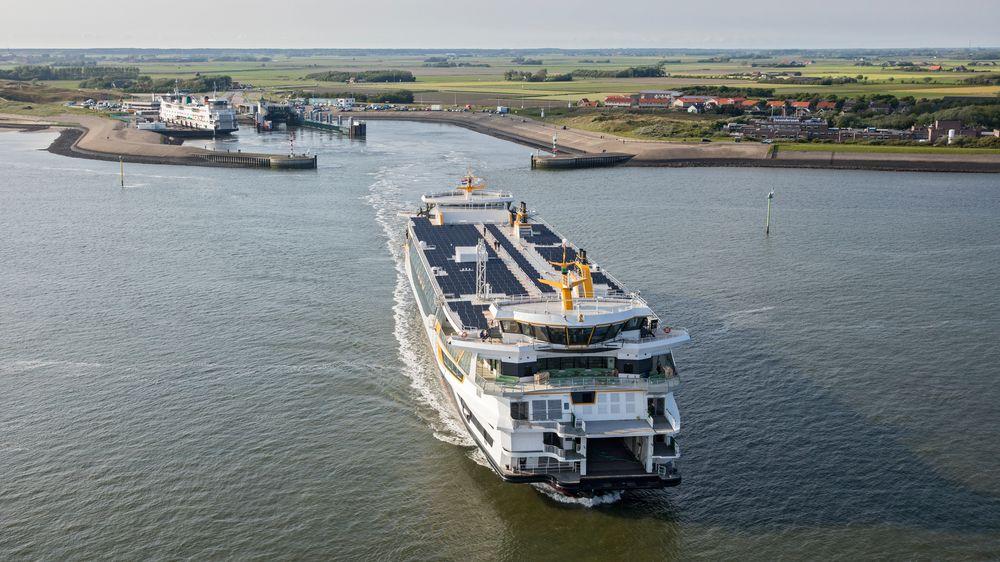 Den nederlandske bil- og passasjerfergen Texelstroom går på 80 prosent gass i form av CNG. Gassen er lagret i trykktanker fra Umoe fra Kristiansand.