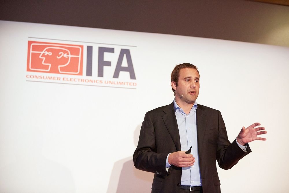 Global marketingsjef Marc Harmsen i TP Vision. Foto: IFA