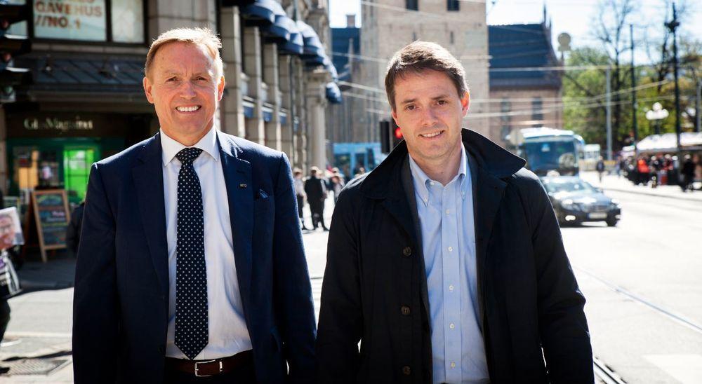 Nito-generalsekretær Steinar Sørlie (t.v.) og Teknas generalsekretær Ivar Horneland Kristensen ville sjekke om det fantes en tredje aktør som var interessert i å investere i Teknisk Ukeblad Media. Nå har de bestemt seg for å  slukke prosessen, og videreføre eierskapet som tidligere.