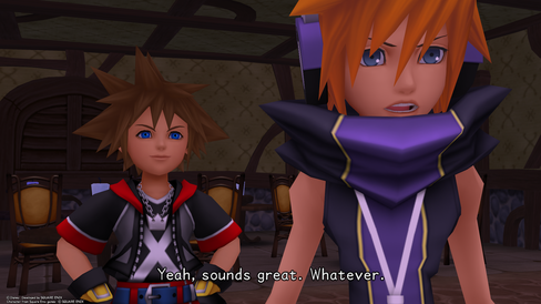 Neku er bare én av flere The World Ends With You-figurer som allerede har dukket opp i Kingdom Hearts. Her fra HD-utgaven av Dream Drop Distance.