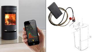 Ved å koble smarttelefonen til ildstedet skal de gjøre folk til fyringseksperter