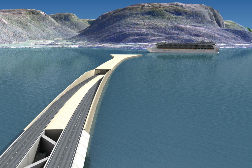 Kombinasjonen av flytebru og rørbru er et av forslagene langs ny Ferjefri E39.