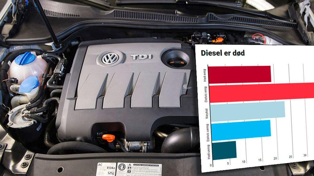 Et flertall av ledere i bilindustrien mener at dieselmotoren er død.