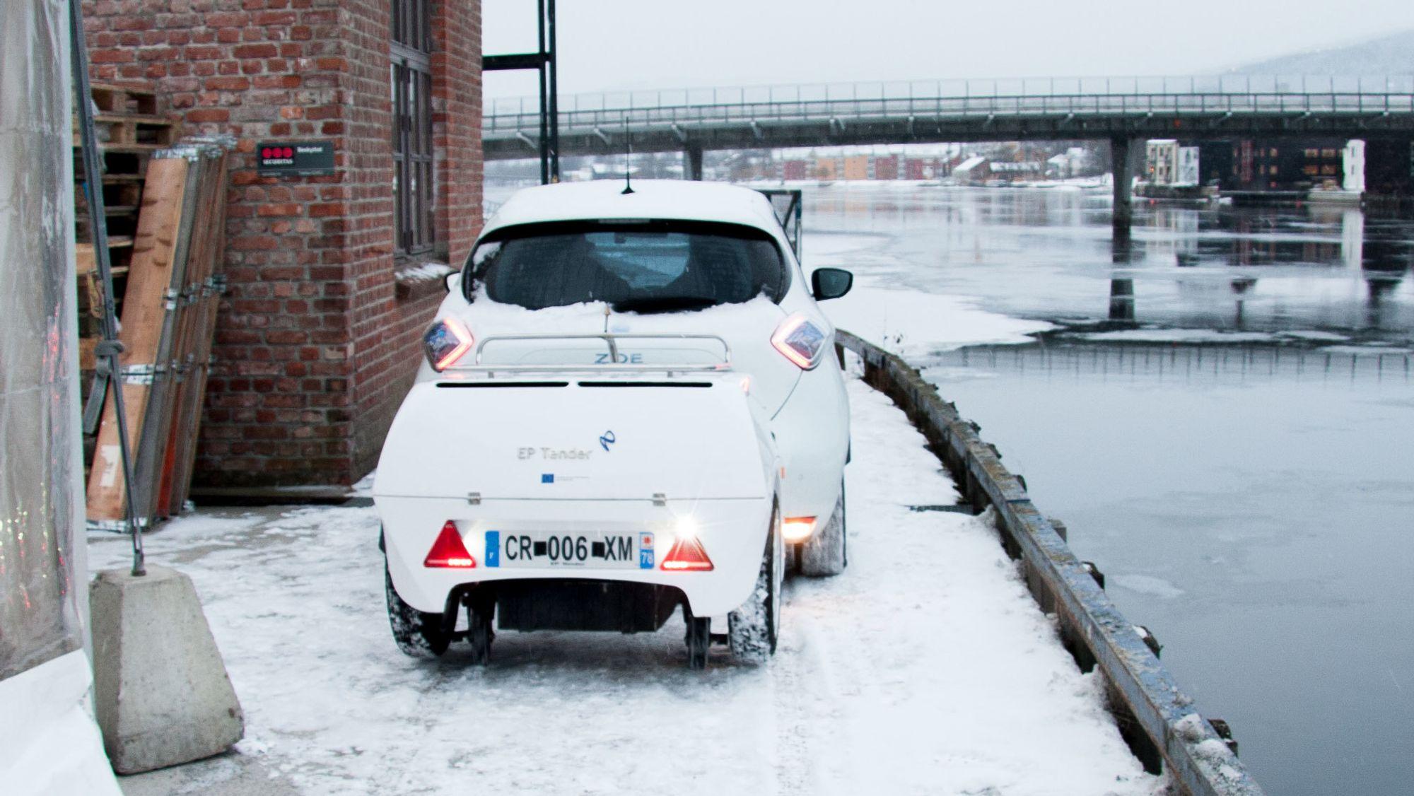 Batteri tilhenger kan øke elbilens rekkevidde med 500 km Tu.no