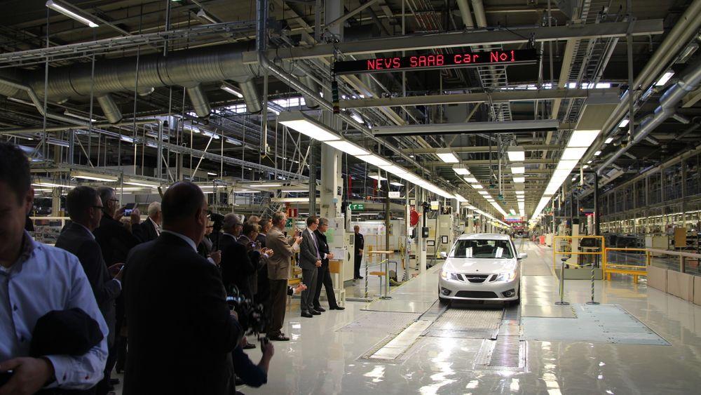 Fra den gamle Saab-fabrikken i Trollhättan, som nå eies av elbilprodusenten Nevs.