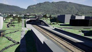 Her kan du gå tur på den nye togstasjonen – før den er bygget