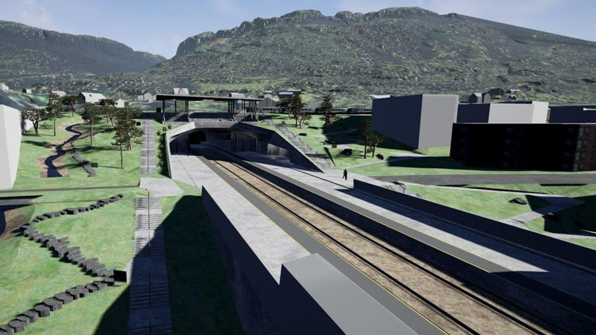 Bane Nor (tidligere Jernbaneverket) og Norconsult har opplevt svært positive tilbakemeldinger på folkemøtene der beboerne har fått se hvordan stasjonen og jernbanesporet vil se ut når det er ferdig.