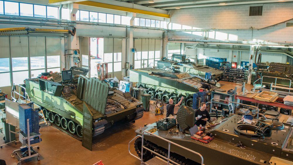 I 2017 var Ritek i ferd med å sluttføre arbeidet på de siste CV90-vognene.