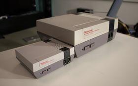 Så stor er den sammenlignet med en vanlig Nintendo.