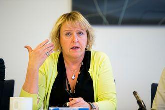 Distriktsdirektør Grethe Gynnild Johnsen i NRK.
