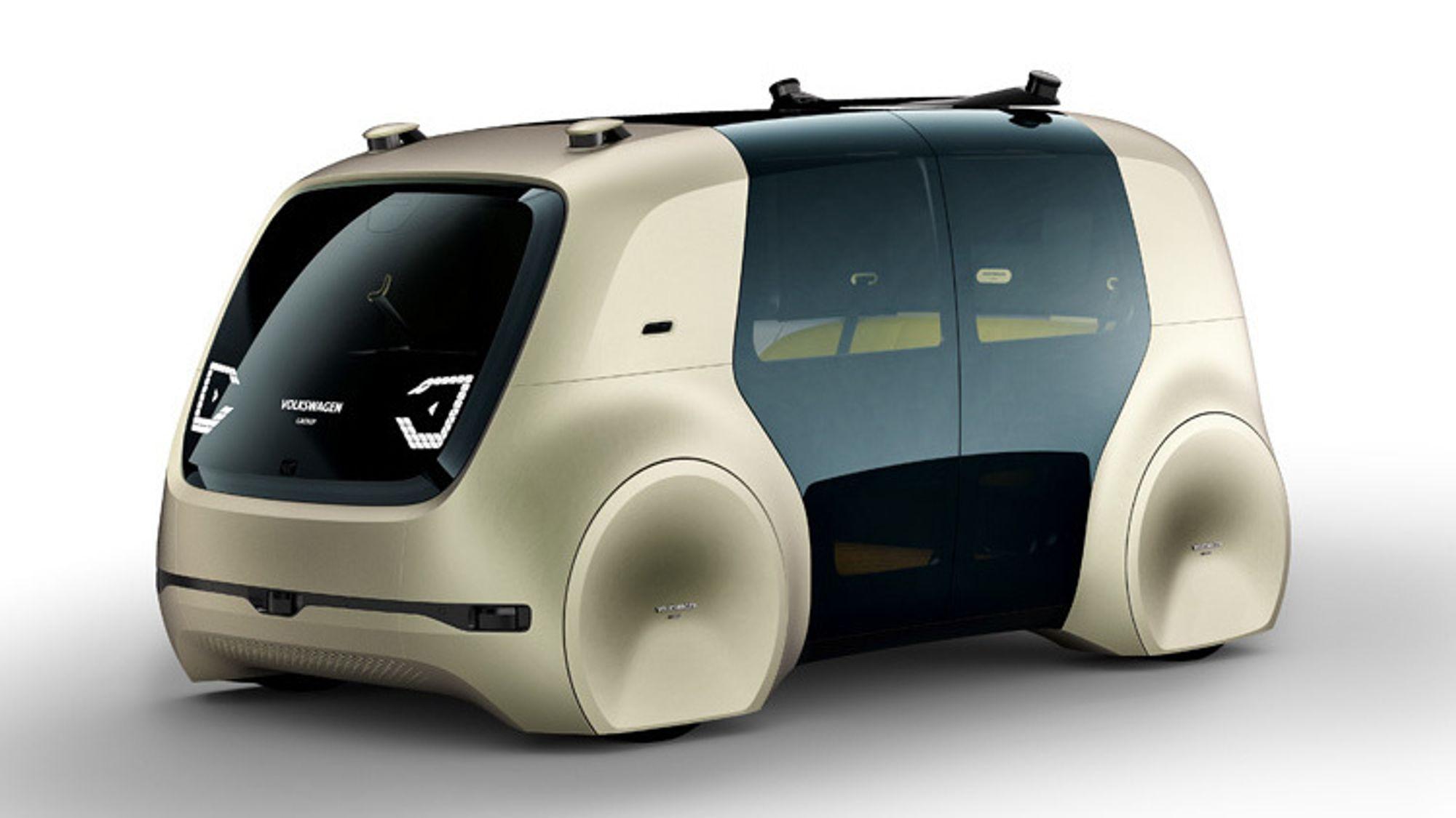 Volkswagen Sedric er en selvkjørende elektrisk minibuss. Dette er fremtidens transportmiddel, ifølge Volkswagen.