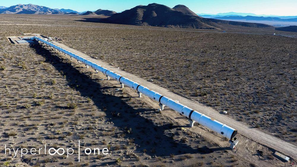 Her er testbanen i Nevada, der Hyperloop-teknologien testes.