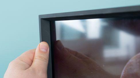 BeoVision Horizon 40 har en ganske markant kant ut fra panelet.