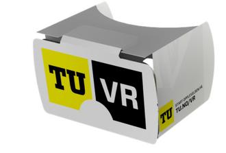 TU har produsert egne VR-briller i papp.