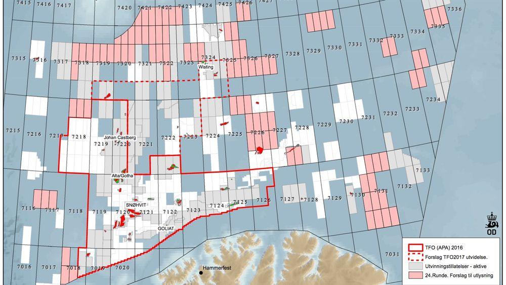 Lyser ut Barents-blokkene før sommeren: Nå advarer miljømyndighetene om lønnsomheten i nord