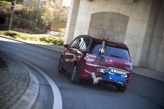Fra RDE-testing av en Citroën-modell.