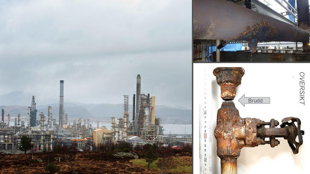 Petroleumstilsynet har gitt Statoil varsel om pålegg etter gasslekkasjen på Mongstad-anlegget. Manglende vedlikehold og et gjennomrustet rør er blant årsakene.