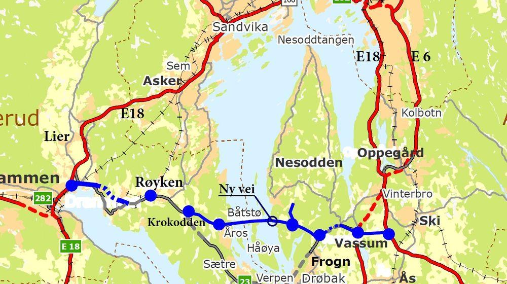 Statens vegvesen gikk sent i fjor inn for konseptet med bru over Oslofjorden i en 6-7 kilometer kortere trasé via Håøya.