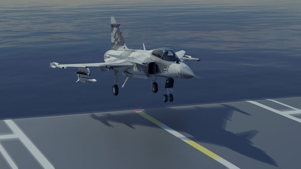 Foreløpig er den maritime versjonen av Gripen kun på konseptstadiet, men Saab håper å snarlig starte opp et fullverdig utviklingsprogram.