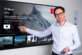 Jérôme Franck-Sætervoll, administrerende direktør for RiksTV.