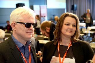 Nestleder Dag Idar Tryggestad og leder Hege Iren Frantzen i Norsk Journalistlag