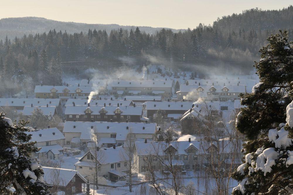 Partikkelproduksjon: Når det er kalt i Oslo fyres det mye med ved. Noe til oppvarming og noe til kos. Ingen av dele3ne er bra for uteluften