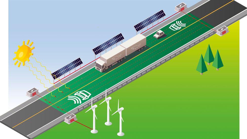 For første gang i Norge bygger Sintef og Statens Vegvesenen testmodell som viser hvordan induktiv lading fungerer.