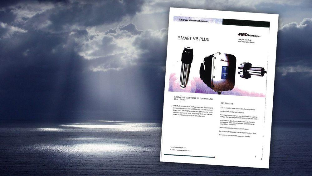 TechnipFMC på Kongsberg har fått forbud mot å selge dette nye systemet for å overvåke temperatur og trykk i oljebrønner.