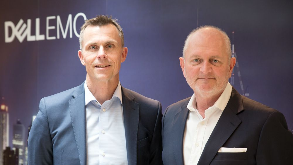Christian Lorck (General Manager, Commercial Sales) og Jul Johansen (General Manager, Enterprise Sales), i Dell EMC Norge.