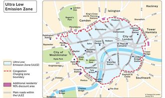 London Ultra Low Emission Zone ULEZ.