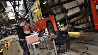 Har redusert utslippene fra de gamle dieselbussene med 90 prosent