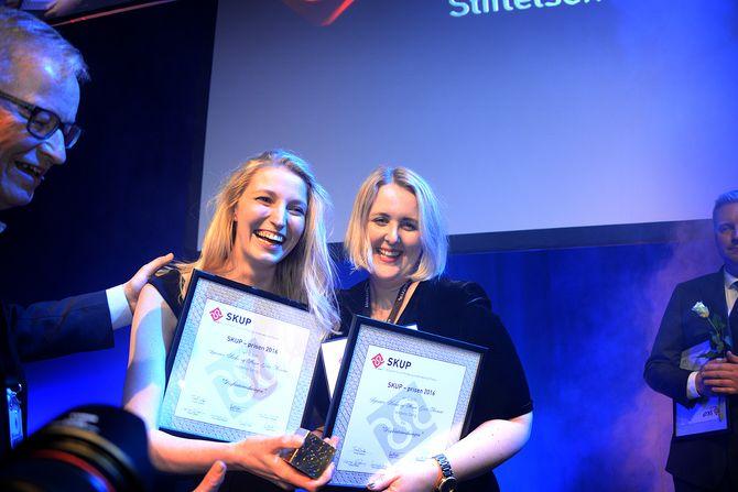 Den gang i 2017: Journalistene Synnøve Åsebø og Mona Grivi Norman fra VG vant SKUP-prisen. De sto bak prosjektet der de avslørte ulovlig beltebruk i norsk psykiatri