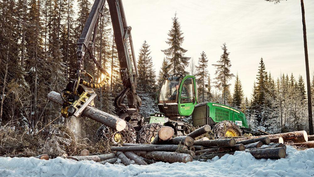 Vi tar ut 10 millioner faste kubikkmeter tømmer fra norske skoger årlig. Et tall man ønsker å øke til 15 millioner. Likevel ligger vi langt bak Sverige og Finland.