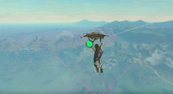 Her flyr han over Breath of the Wild-verdenen på om lag 10 minutter