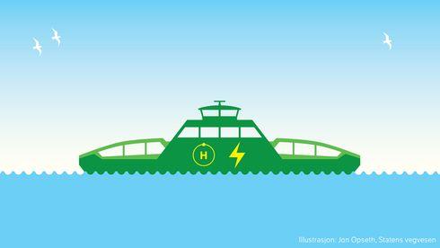 Hydrogen kan bli løsningen som gjør alle fergestrekninger utslippsfrie