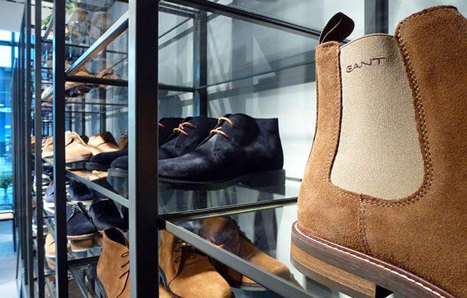 SEMSKET SKINN: Et lite utvalg klassiske Gant-sko.