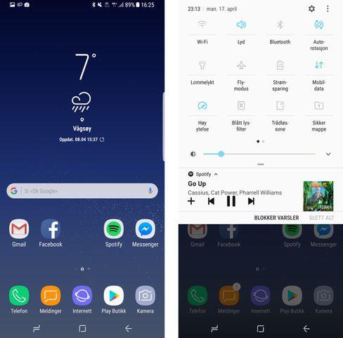 Samsung videreutvikler stadig menyopplevelsen sin. I Android 7-utgave på Galaxy S8 har den blitt svært så god å bruke. Stilren og pen å se til er den også.