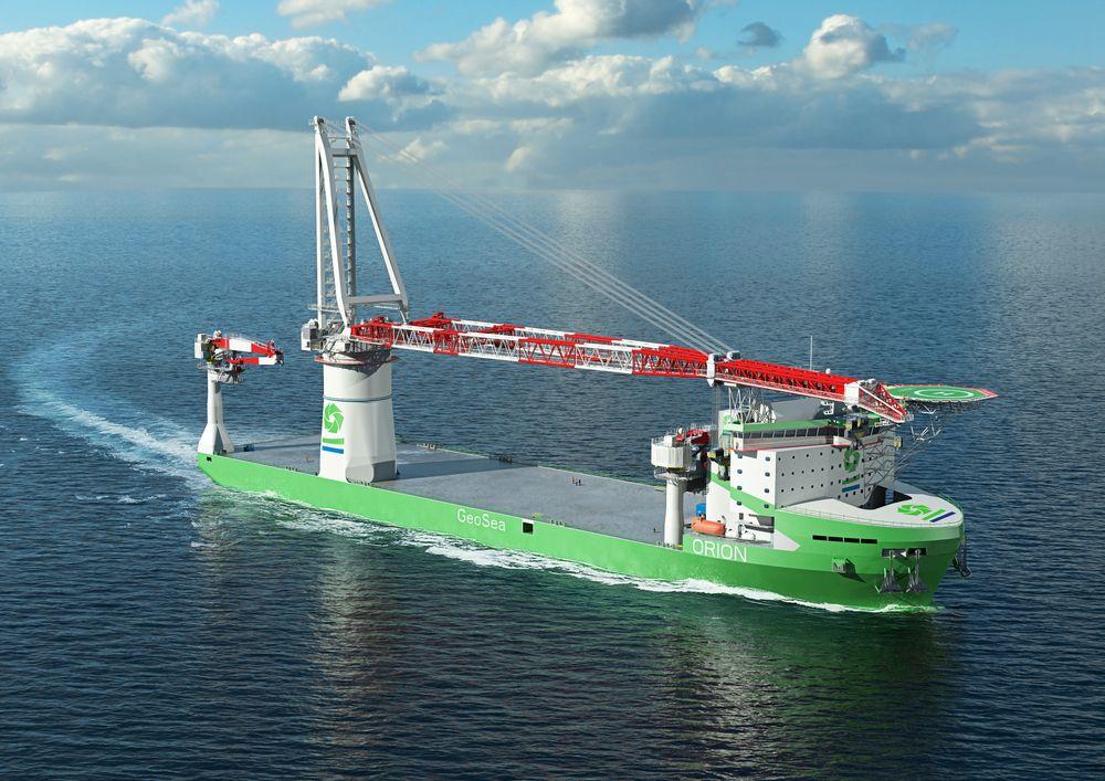 «Orion» blir verdens første tungløftskip med gassmotorer. Wärtsilä skal levere seks dual fuel-motorer, gassystemet og seks thrustere.