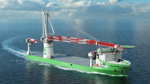 Finsk-norsk teknologi sørger for verdens første tungløfteskip på gass